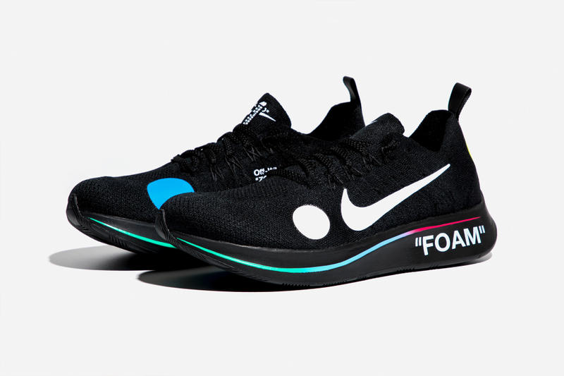 Virgil Abloh x Nike Zoom Fly Mercurial Flyknit Black Lateral Side Angled