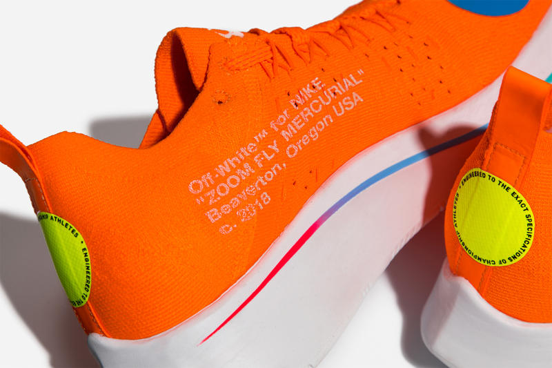 Virgil Abloh x Nike Zoom Fly Mercurial Flyknit Orange Medial Side