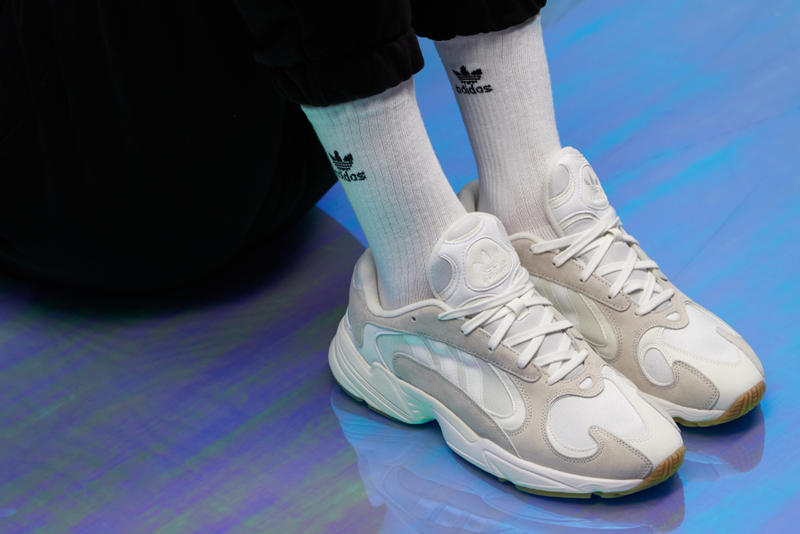 wardrobe nyc x adidas yung 1 one collaboration sneaker colorway exclusive white cream gum sole suede leather exclusive pre order june 18 2018 july drop release date info launch
