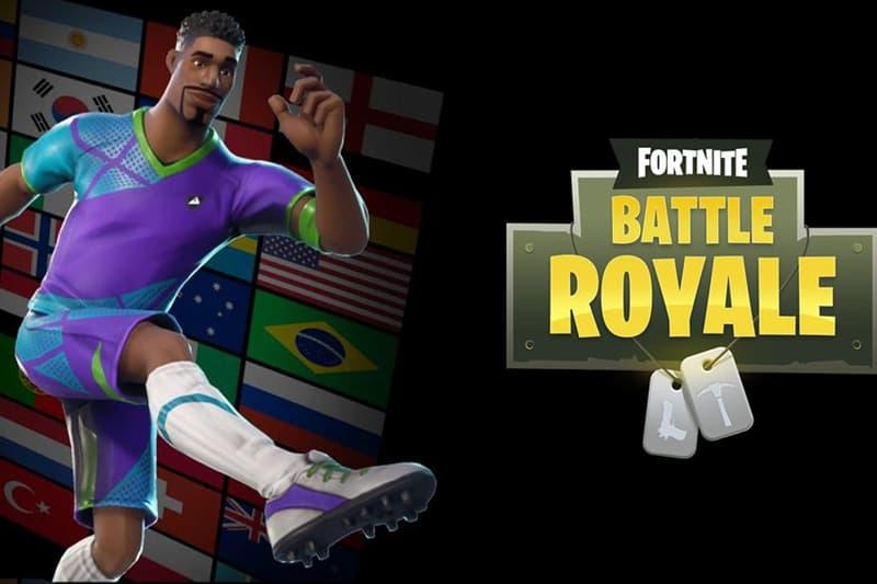 Fortnite Battle Royale World Cup Soccer Kits Epic Games Skin Update FIFA 2018