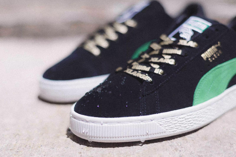 XLARGE x PUMA Suede 50th anniversary Release info drop date June 28 sneakers footwear 50th Anniversary Black Green
