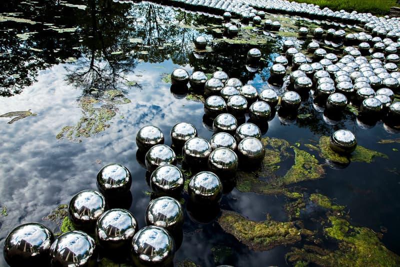 Yayoi Kusama Narcissus Garden Rockaways July 1 1,500 Mirrored Stainless Steel Spheres Artwork Art MoMA PS1 New York Queens Fort Tilden Klaus Biesenbach