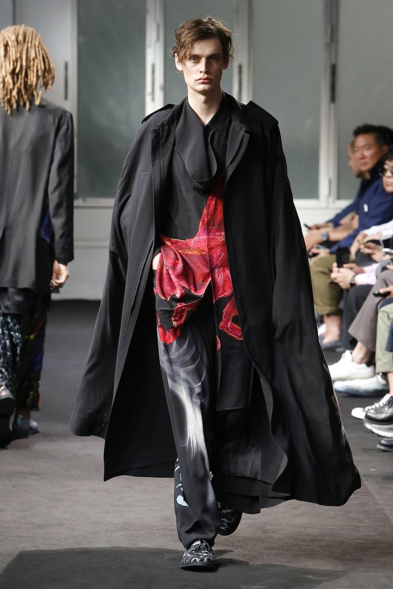 Yohji Yamamoto Spring Summer 2019 collection runway paris fashion week mens