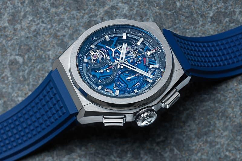 Zenith Defy El Primero 21 Blue Alligator Leather Redesign Chronograph