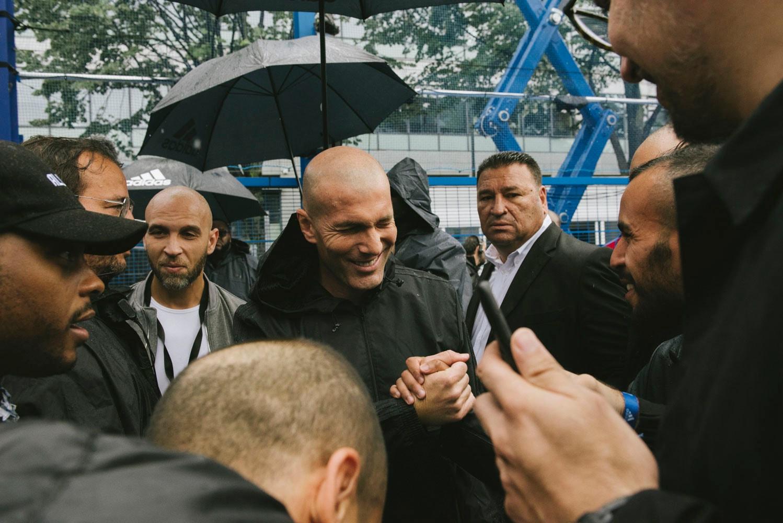 Football Legend Zinedine Zidane ZZ10 Playground Saint-Denis france football soccer
