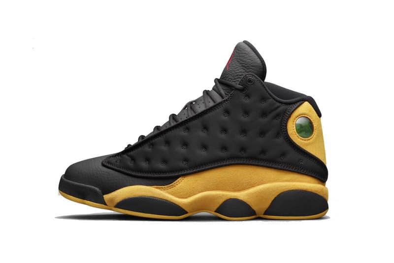 42523ecd8062e4 Air Jordan 13 Carmelo Anthony Class Of 2002 black yellow sneakers shoes  footwear release date info