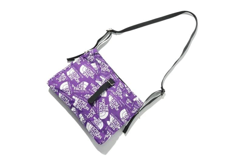 THE NORTH FACE PURPLE LABEL logo print bags ss18 black strap shoulder bag