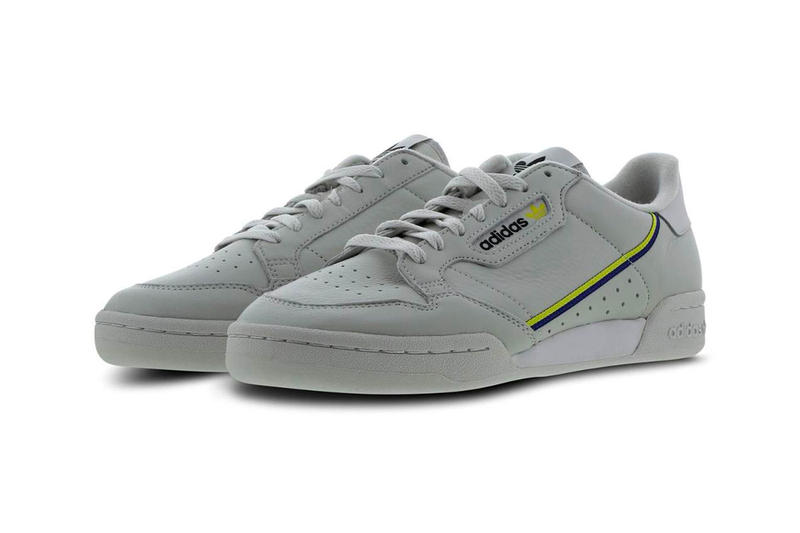 first rate d7d6d abd0e adidas Continental 80 Grey Yellow Colorway Release info price purchase  sneaker footwear Mystery Ink