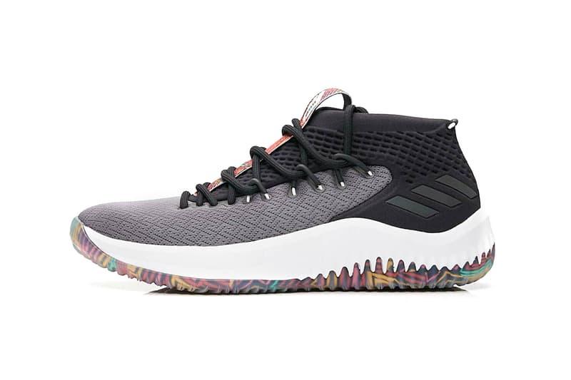 7d64147a1541 adidas Dame 4 Tribal Print black grey release info damian lillard basketball