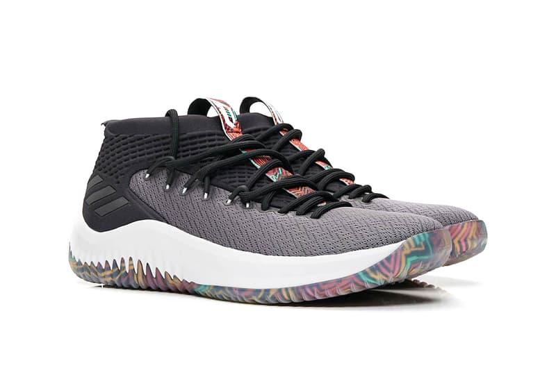 adidas Dame 4 Tribal Print black grey release info damian lillard basketball