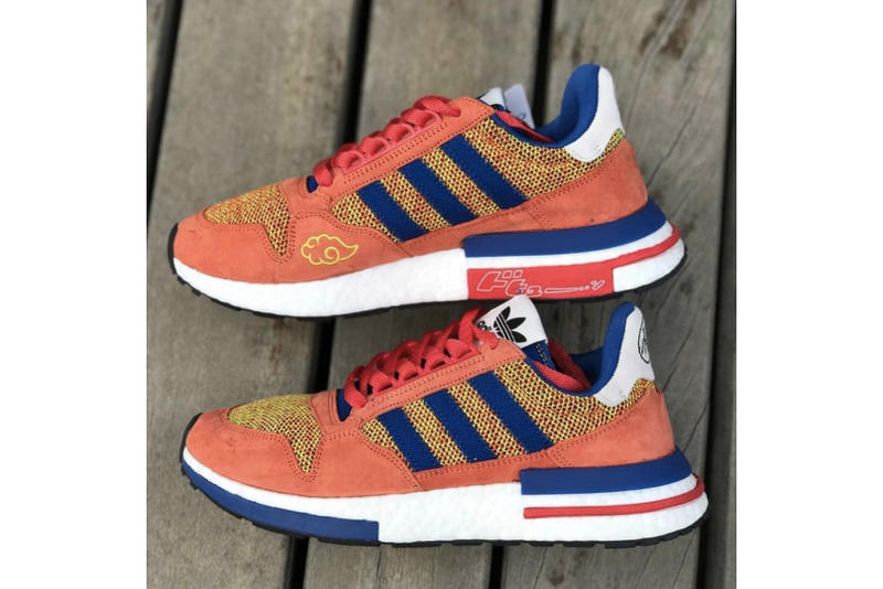 e48661082 A potential look at the official sneaker. dragon ball z adidas goku  collaboration zx 500 rm sneaker orange navy suede nimbus ...