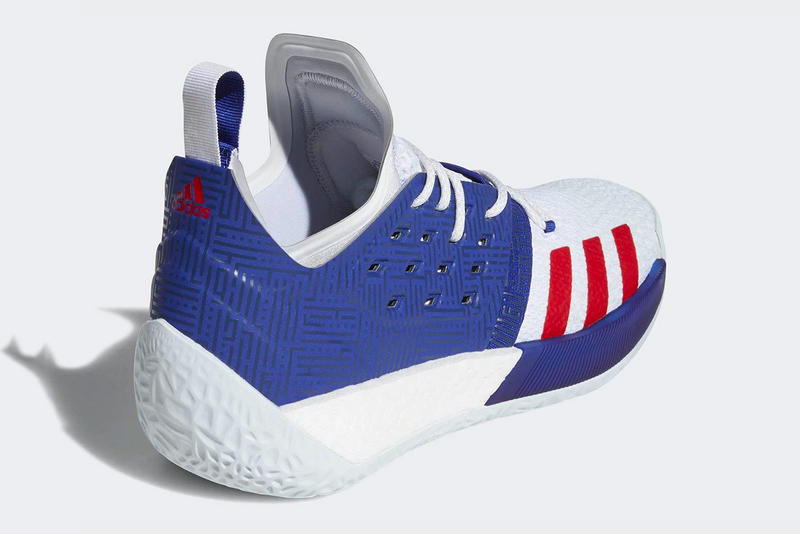"adidas Harden Vol. 2 ""Red/White/Blue"" Release date sneaker patriotic colorway james harden price purchase"