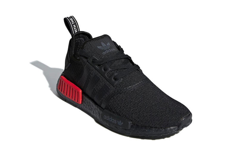 adidas NMD R1 Primeknit Bred release info sneakers footwear Black Red Originals