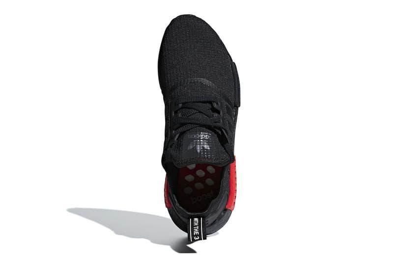 timeless design d1393 4606c adidas NMD R1 Primeknit Bred release info sneakers footwear Black Red  Originals