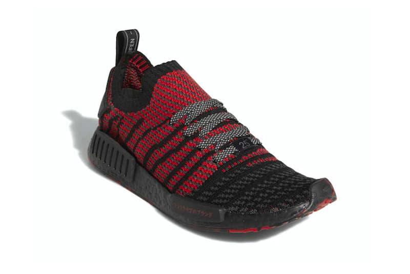 adidas NMD R1 Primeknit Bred release info sneakers footwear Black Red Originals