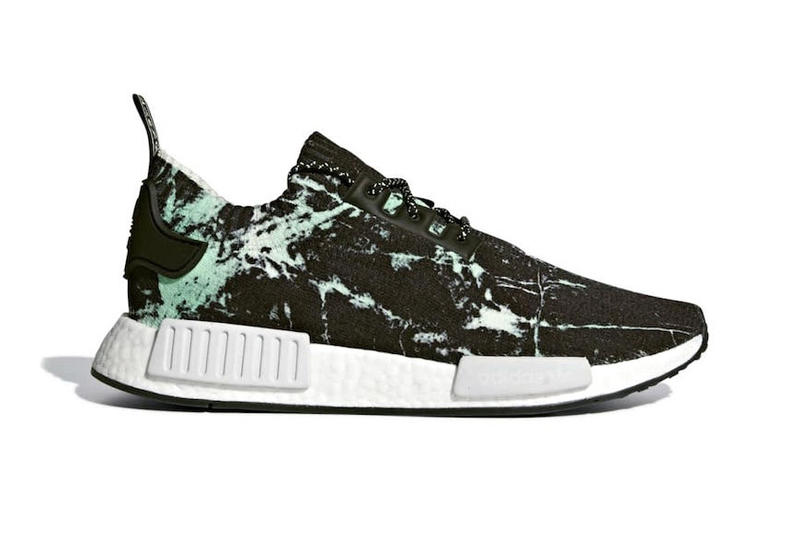 adidas NMD R1 Primeknit Green Marble release info sneakers footwear White 9f4283495ad0