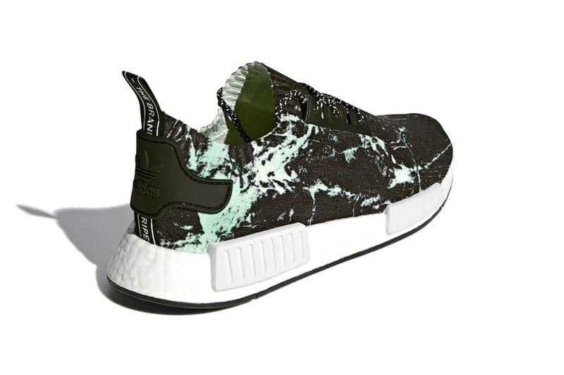 adidas NMD R1 Primeknit Green Marble release info sneakers footwear White