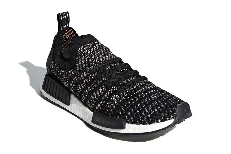 adidas NMD R1 STLT Core Black Grey Release Date grey sneaker price BOOST sneakers kicks shoes releases footwear drops