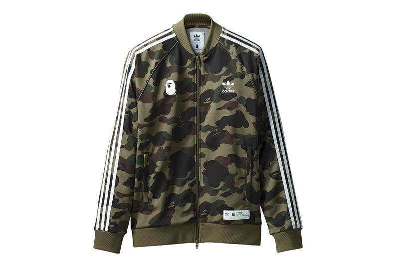 20aa565bfd22 BAPE adidas Originals 2018 Apparel Collection Collaboration Collab adicolor  Release Details Camouflage Release Information Details First