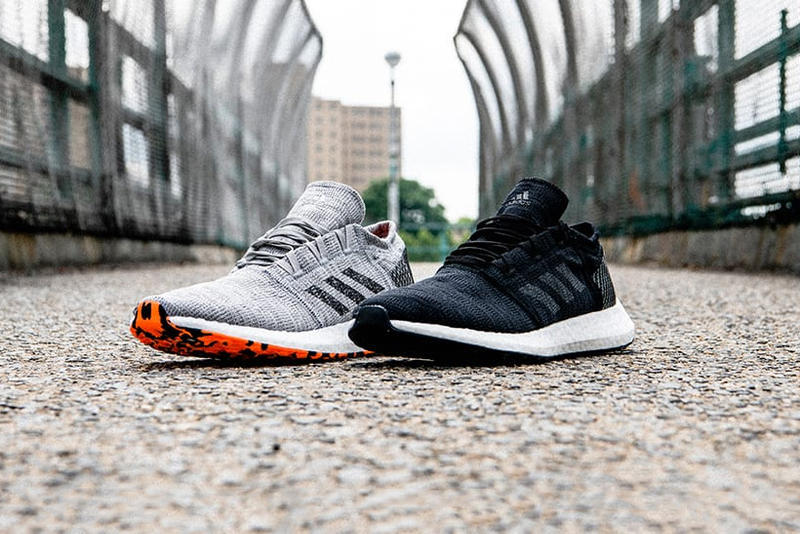 adidas PureBoost Go sneaker Release info drop date price A$AP Ferg Kwasi Kessie Boost cushioning Black and grey colorway sneaker footwear