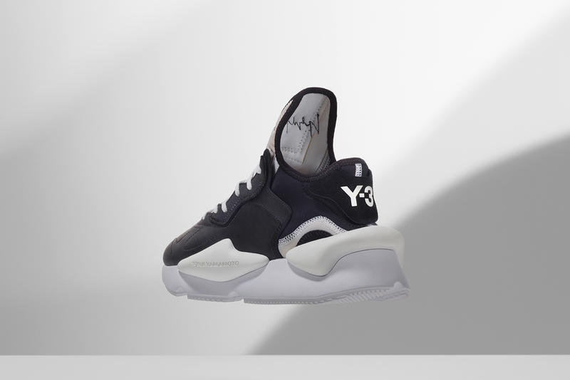 adidas Y-3 'Kaiwa' Sneaker Release Details Cop Purchase Buy Available Now Kicks Shoes Trainers Sneakers august 3 2018 black white monochrome chunky runner running sneaker yohji yamamoto fall winter colorway