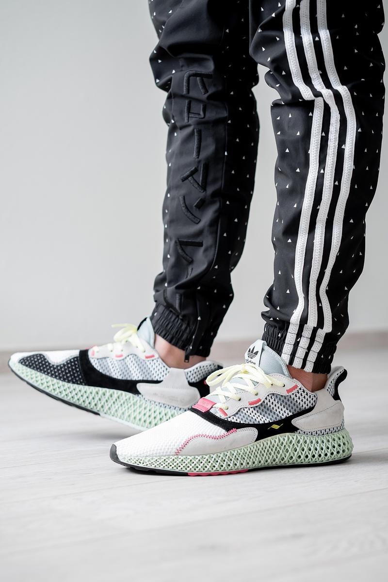 hot sale online 9a454 c9729 adidas zx 4000 4d sample randy galang futurecraft fall winter 2018 black  tan beige white mesh