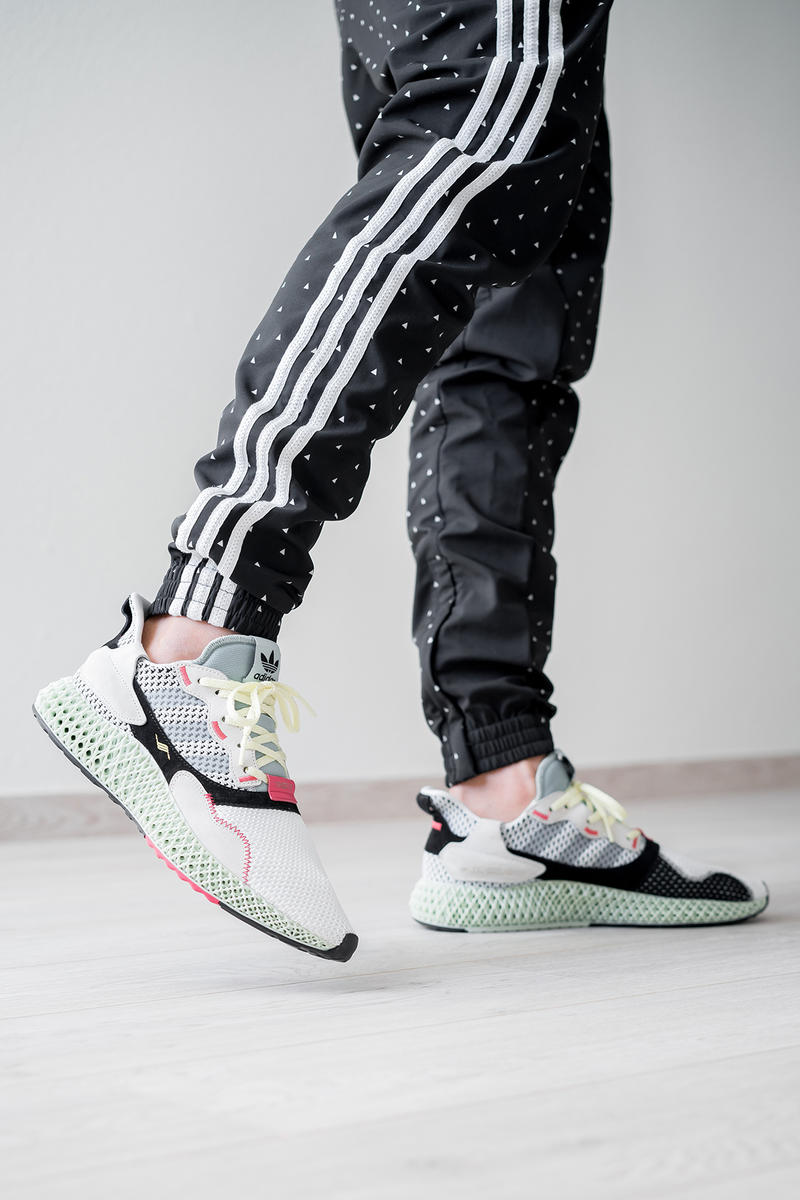 a0136753d adidas zx 4000 4d sample randy galang futurecraft fall winter 2018 black  tan beige white mesh