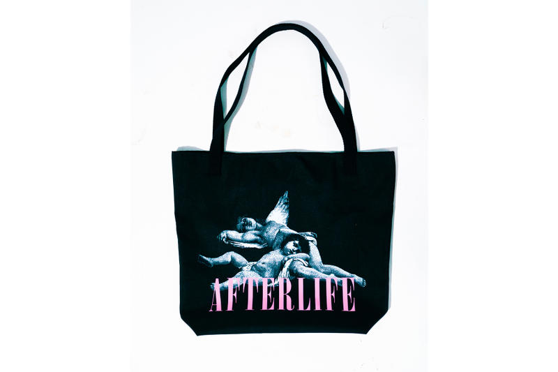 AFTERLIFE Spring Summer 2018 Collection Part 1 lookbook hoodies shirts tote bags skate deck release info