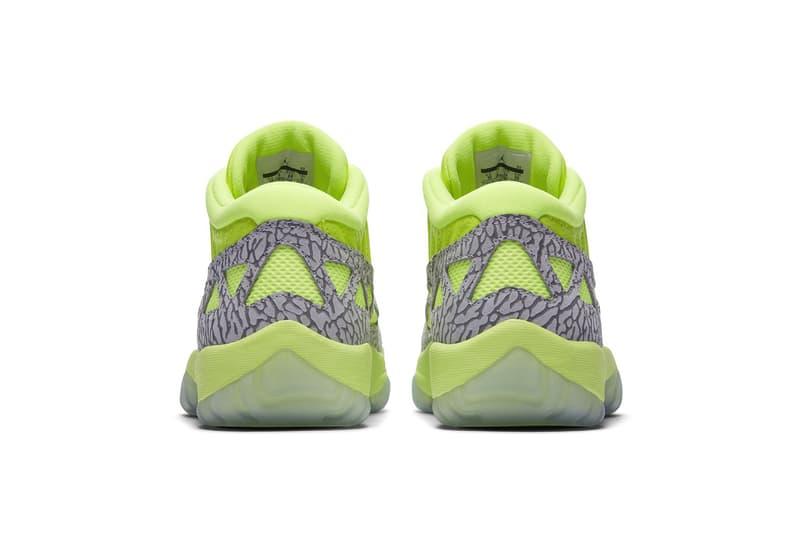 air jordan 11 low ie ghost green 2018 august jordan brand footwear
