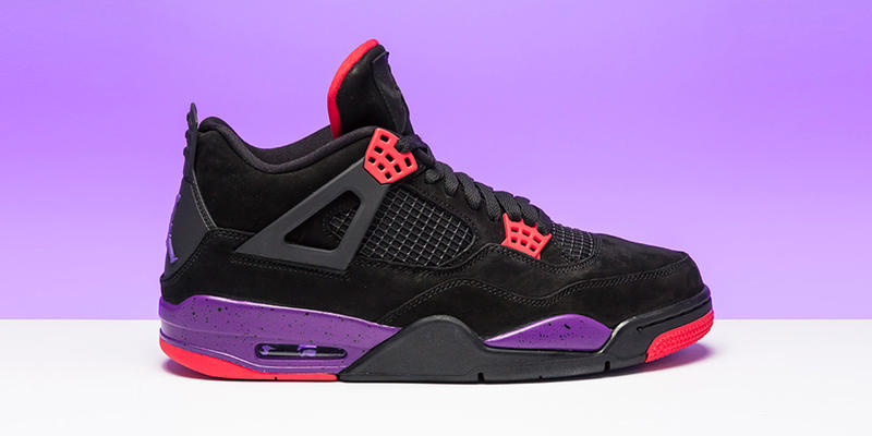 Air Jordan 4 Raptors Release Date Red Black Purple