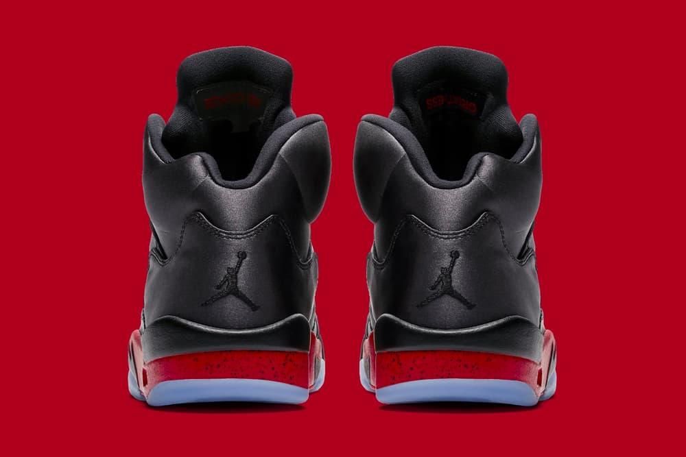 Air Jordan 5 Bred jordan brand official images release info black university red sneakers