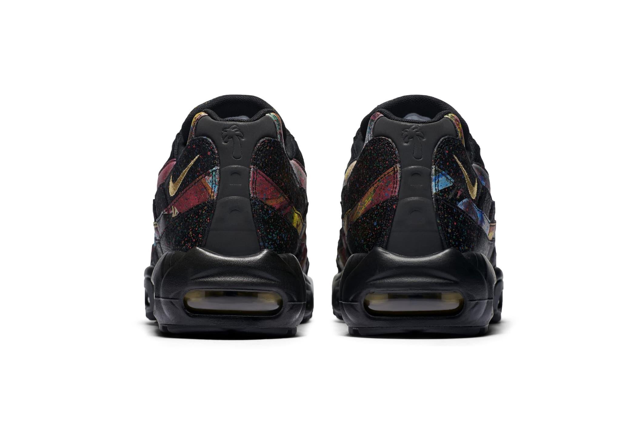 Nike Air Max 95 Paint Splatter Colorway first look sneaker multicolor black gold