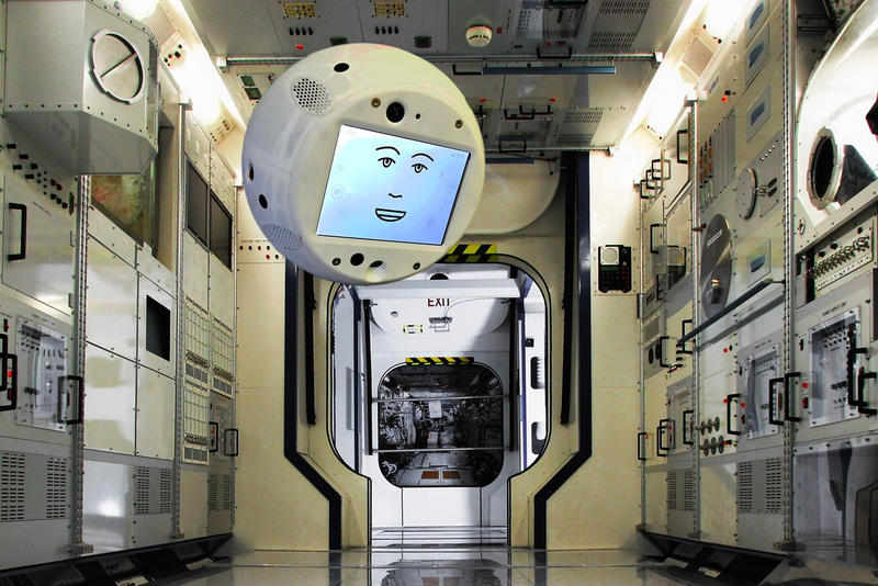 Airbus CIMON AI Assistant  Space ISS artificial intelligence flying brain astronaut