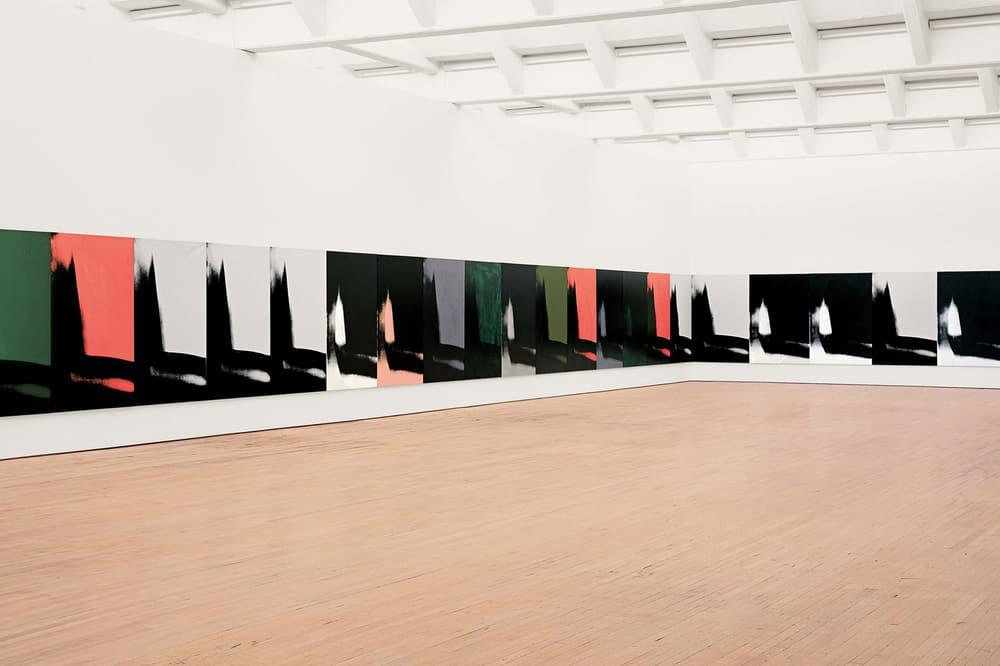 andy warhol shadows calvin klein headquarters dia beacon artworks art canvasses