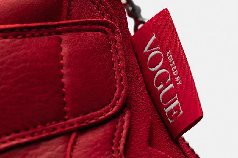 Anna Wintour Vogue magazine nike Air Jordan brand 1 3 Sneakers shoes red white i iii edited by awok ok okay sail university black tweed