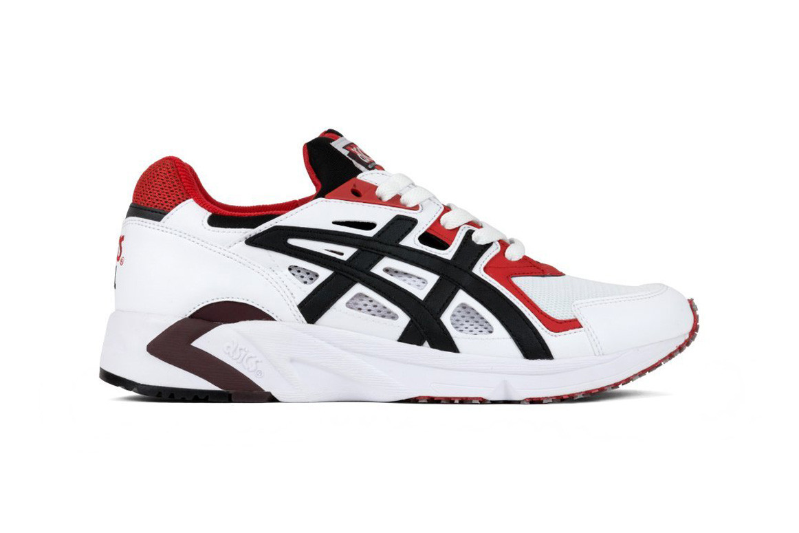 red asics trainers