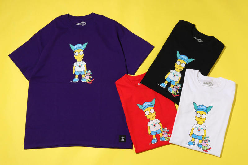 ATMOS lab. The Simpsons 2018 Capsule Collection Collaboration Clothing Fashion Cop Purchase Buy Available