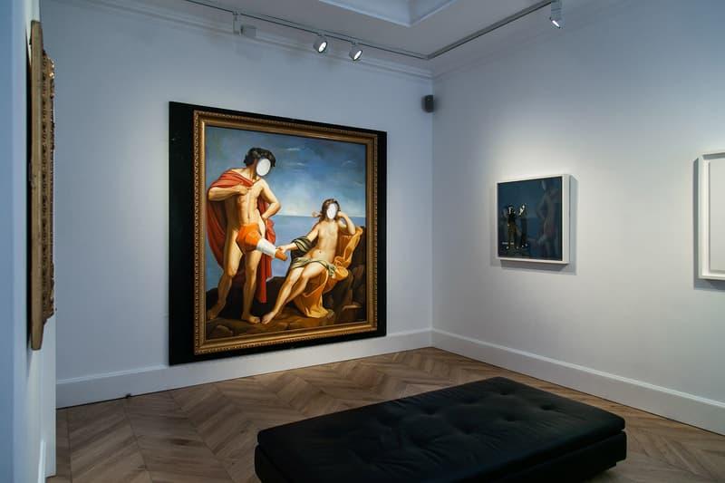 """Banksy """"Greatest Hits"""" Exhibition Lazinc London Closer Look Inside Famous Art Pieces"""