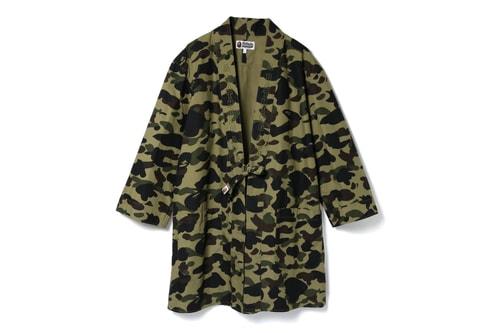 BAPE Returns to Tradition With 1ST CAMO Kimono Long Shirts