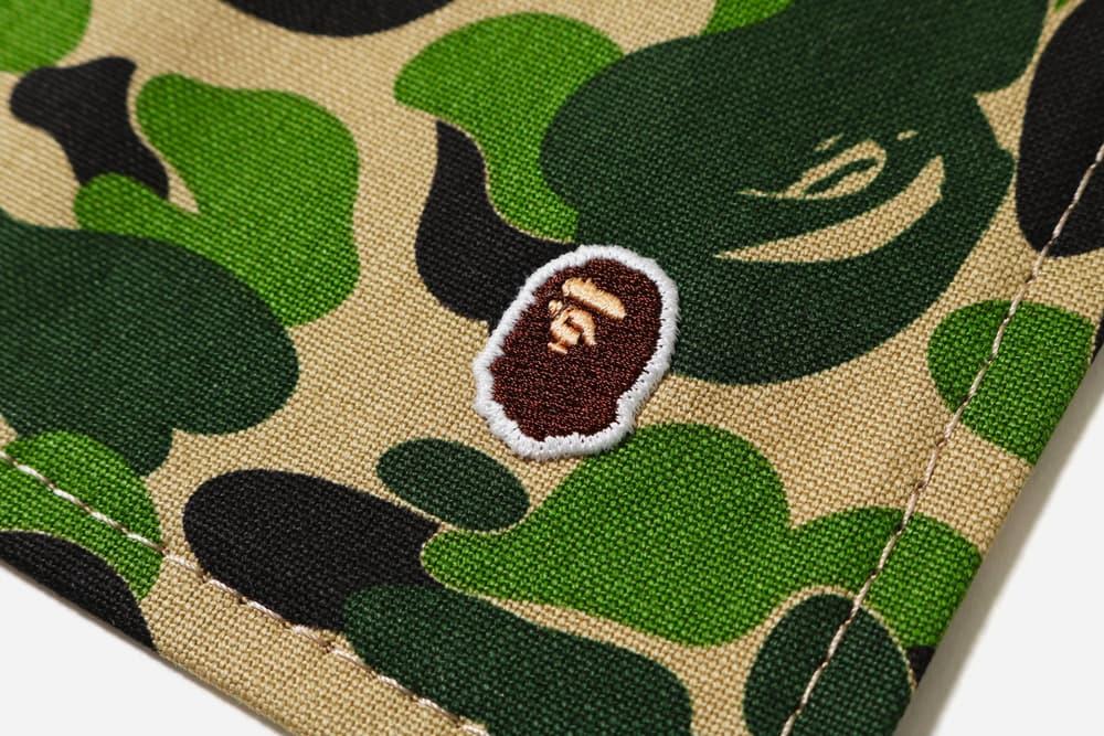 bape abc camo place mat coaster set green