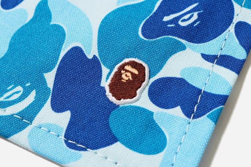 bape abc camo place mat coaster set blue