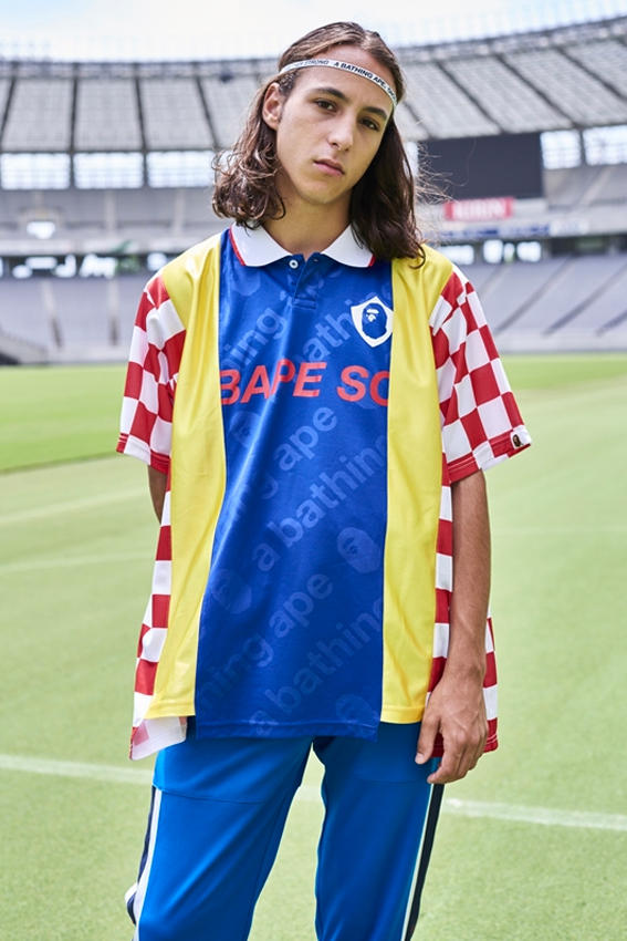 bape football fall winter 2018 collection lookbook