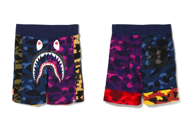 bape mix camo shorts