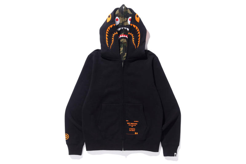 bape undefeated hong kong exclusive capsule double shark hoodie