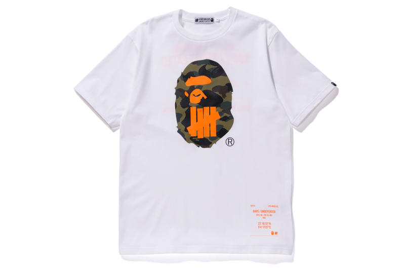 bape undefeated hong kong exclusive capsule white t shirt