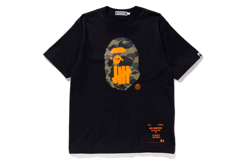 bape undefeated hong kong exclusive capsule black t shirt