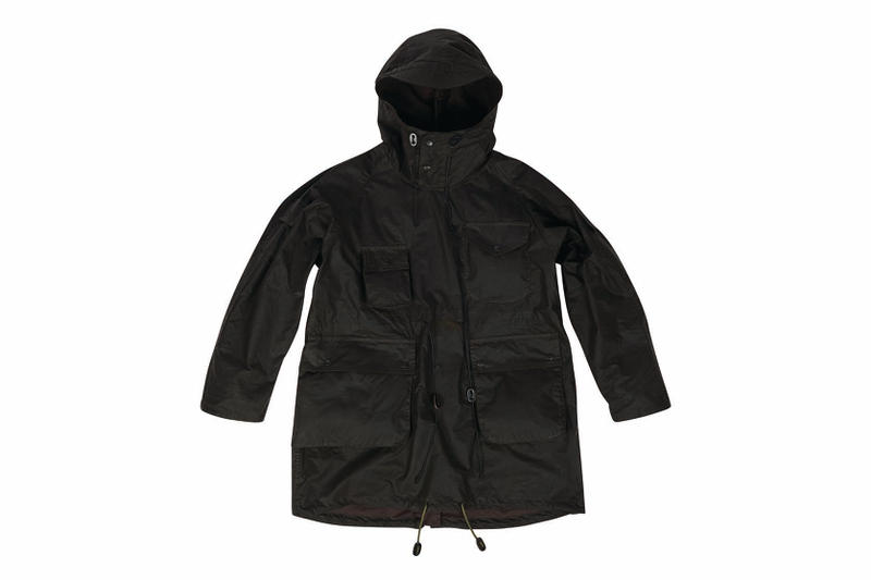 Barbour x Engineered Garments Fall/Winter 2018 Collection New York 5-Piece Capsule Collection Waxed Cotton Daiki Suzuki FW18 AW18 Japanese Designer American Sportswear Workwear Military Clothing Black Navy Olive Waxed Cotton Parkas Capes Bedales Blouson Carnaby St Soho London Available Purchase Cop Buy Soon