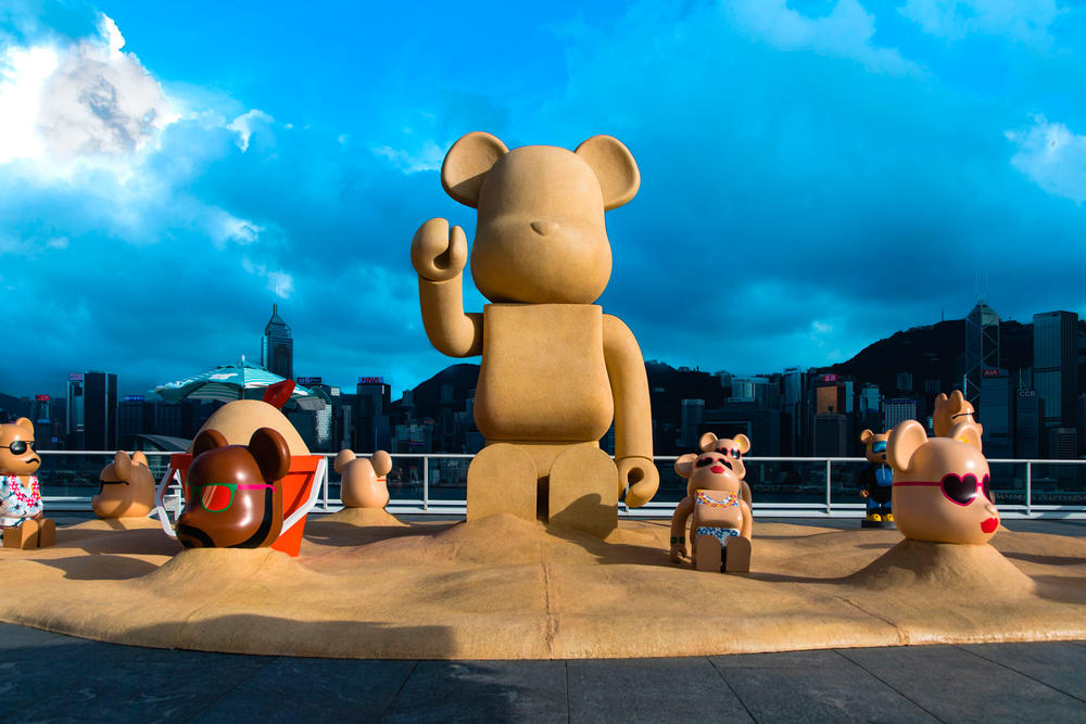 bearbrick harbour city summer chill 7000 percent sand bear