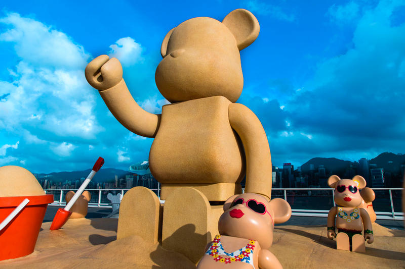 bearbrick harbour city summer chill 7000 percent sand bear