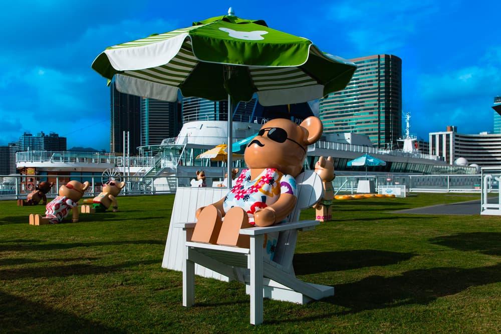 bearbrick harbour city summer chill 2000 percent sun bathing